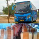 medium bus biru
